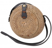 Woven handbag, basket bag, rattantasche, bali bag round - model 5