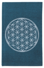 Notebook, Diary - Flower of life petrol