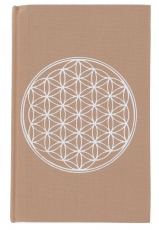 notebook, diary - flower of life cappuccino