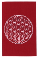 Notebook, Diary - Flower of life red