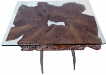 Coffee table, coffee table, floor table made of burl wood - model..