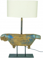 Table lamp/table lamp from old cowbell in chabby chick look - Mod..