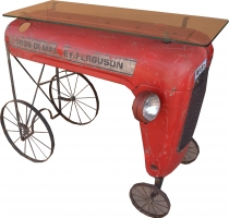 Tractor sideboard with glass top - Model 5