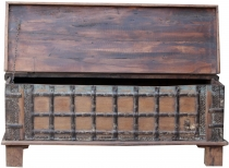 Antique wooden box, wooden chest, coffee table, coffee table made..