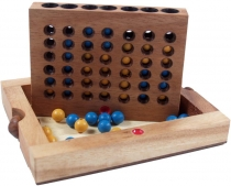 Board game, wooden parlour game - Four Wins Bingo