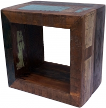 Vintage side table made of recycled wood