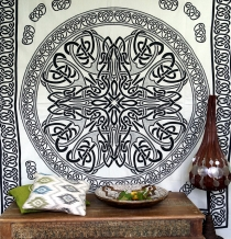 Wall hanging, wall cloth, mandala, bedspread Celtic - Design 5
