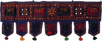 Indian wall hanging, Oriental pennant with pills, Toran - elephan..