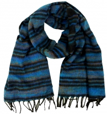 Soft Goa scarf/stole - blue