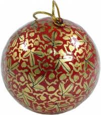 Upcyceling papier mache Christmas bauble, hand painted Christmas ..