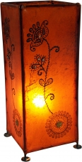 Henna Lamp , Leather Table Lamp/Table Lamp - Model Agra