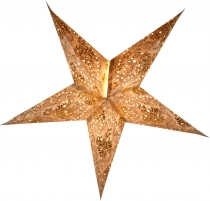Foldable Advent light paper star, poinsettia Antaris nature