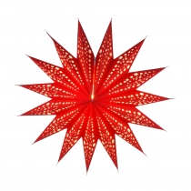 Foldable Advent illuminated paper star, Poinsettia 40 cm - Ariste..