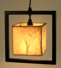 Leather ceiling lamp/pendant lamp Jodhpur