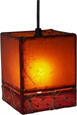 Leather - Saree Ceiling Lamp/Pendulum Lamp Cashmere