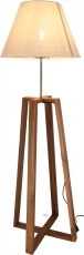 Floor Lamp/Floor Lamp , handmade, teakwood, cotton fabric - Model..