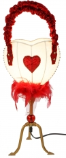 Table lamp Kokopelli - Heart bag H1098w