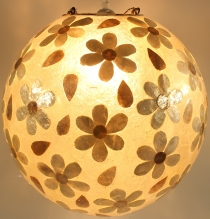 Ceiling lamp/Ceiling light, handmade in Bali, fiberglass with cap..