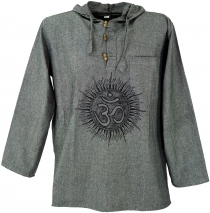 Yoga shirt, Goa shirt Om, sweatshirt - grey