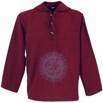 Yoga shirt, Goa shirt Om, sweatshirt - red