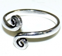 Brass toe rings, Goaschmuck - silver