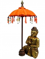 Ceremonial Umbrella, Asian Decorative Umbrella medium - orange