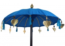 Ceremonial Umbrella, Asian Decorative Umbrella - turquoise blue