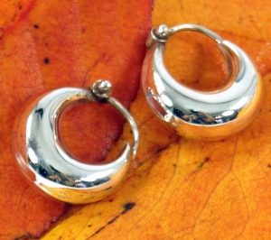 Ethno Earrings, Boho Silver Creoles Creoles