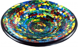 colorful mosaic bowl round