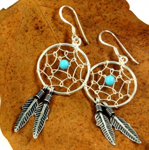 Silver Earrings Celtic Triskele