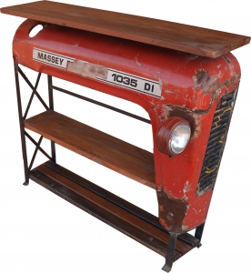 Tractor shelf / sideboard with wooden top