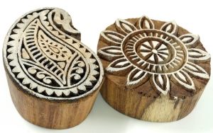 Indian Wooden Stamp Set 16