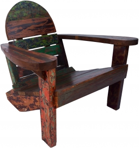 Wooden armchair, chair made of recycled teak - model 5