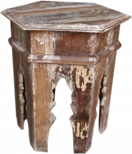 Antique white side table (JH7-366)