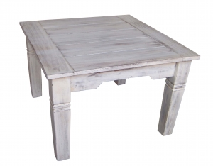 Antique white square coffee table