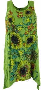 Baba Longshirt, Psytrance mini dress - Flowers/green