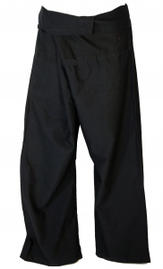Cotton fishing pants, wrapping pants yoga pants from Nepal - blac..