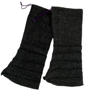 Beinstulpen Fleece Goa Legwarmer - plum