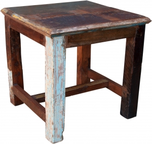 Side table, coffee table made of recycled wood (JH0-149)