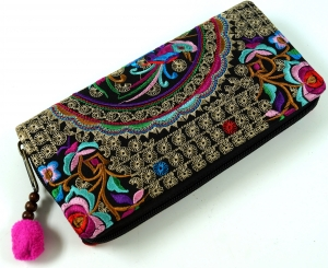Embroidered Ethno Wallet Chiang Mai - Flora