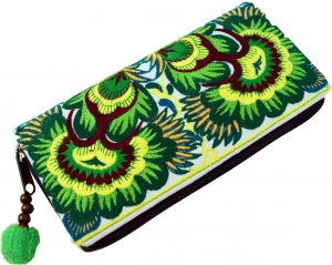 Embroidered Ethno Wallet Chiang Mai - lemon
