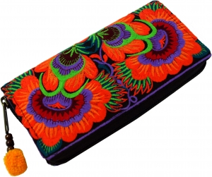 Embroidered Ethno Wallet Chiang Mai - orange