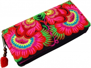 Embroidered Ethno Wallet Chiang Mai - pink/blue