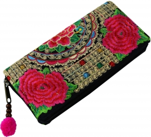Embroidered Ethno Wallet Chiang Mai - Rose