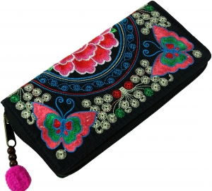 Embroidered Ethno Wallet Chiang Mai - Butterfly