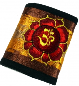 embroidered wallet Lotus OM