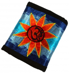 embroidered wallet sun OM