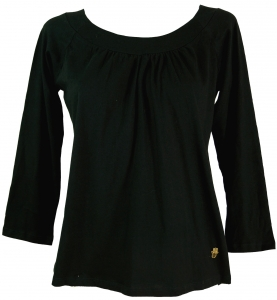 Boho Shirt with Fatima`s hand - black