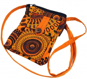 Neck pouch, purse - orange