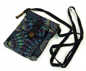 Neck pouch, purse - black